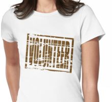 Volunteer rubber stamp effect Womens Fitted T-Shirt