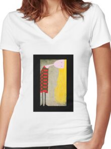 Unadjusted Women's Fitted V-Neck T-Shirt