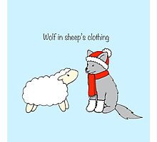 Wolf in sheep's clothing Photographic Print