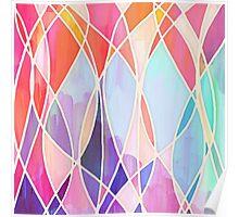 Purple & Peach Love - abstract painting in rainbow pastels Poster