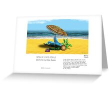 """Beirut"" in words & image (Denis Dubois) Greeting Card"