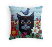 Long Blue Summer Throw Pillow