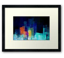 Underwater city Framed Print