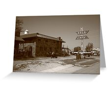 Route 66 - Rock Cafe Greeting Card