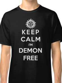 Keep Calm Im Demon Free(white) Classic T-Shirt