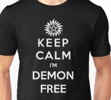 Keep Calm Im Demon Free(white) Unisex T-Shirt
