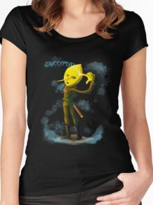 Unacceptable Sexy Lemon Women's Fitted Scoop T-Shirt