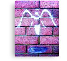 Urban Angel Pink Canvas Print