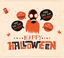 Are You My Mummy? - Halloween Card by Risa Rodil
