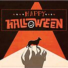 Hounds of Baskerville - Sherlock Halloween Card by Risa Rodil