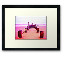 Out to Sea- Magenta Framed Print