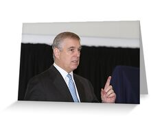 Andrew, The Duke of York opens the Royal Greenwich University Technical College Greeting Card