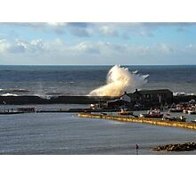 Strong Winds At Lyme, Dorset UK Photographic Print