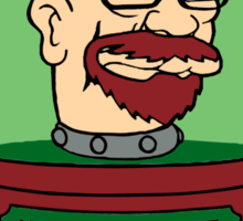 Walter White's Head In A Jar - Breaking Bad / Futurama Mashup Sticker