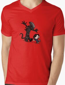 Ripley and alien Mens V-Neck T-Shirt