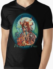 Wolf Fairy Mens V-Neck T-Shirt