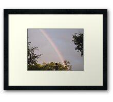 Evening Rainbow Framed Print