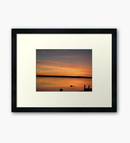 Orange Mirror Sunset Framed Print