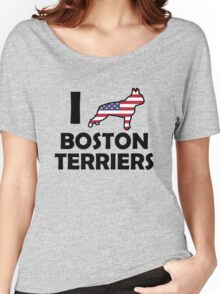 I ♥ Boston Terriers Women's Relaxed Fit T-Shirt