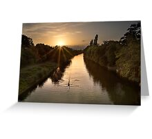 Evening on the Thames Greeting Card