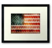 American Flag Abstract Framed Print
