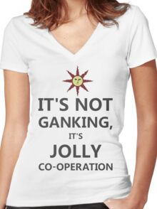 It's not ganking... (alt.) Women's Fitted V-Neck T-Shirt