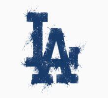 Los Angeles dodgers logo splatter by nick94