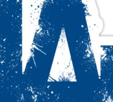 Los Angeles dodgers logo splatter Sticker
