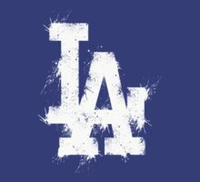 los angeles dodgers splatter shirt by nick94