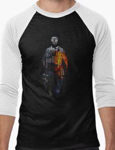 Battlefield Typography Men's Baseball ¾ T-Shirt