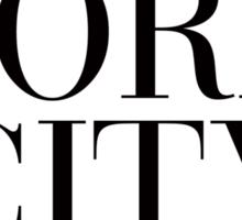 New York City Girl Vogue Typography Sticker
