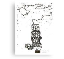 LINE : LINE camera 06 , Rolleiflex 2.8F model Canvas Print