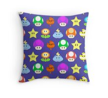Mario Power Ups Throw Pillow