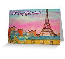 Paris Christmas Greeting Card