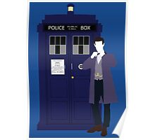 Eleven and the TARDIS Poster