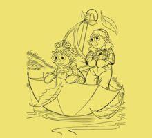 Raggedy Ann & Andy Go Sailing One Piece - Short Sleeve
