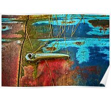 Antique Truck Door and Handle Poster