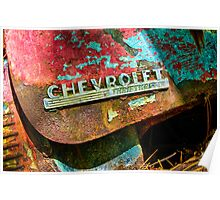 Chevrolet Red Poster