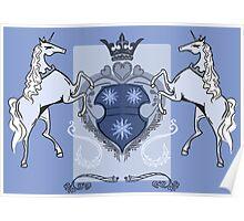 Heraldic Unicorns Poster