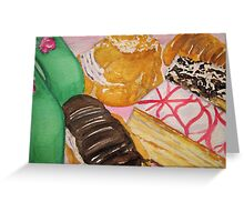 Italian Pastries from Victoria Pastry in San Francisco Greeting Card