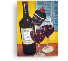 Cupcake wine and a Cupcake Canvas Print