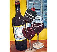 Cupcake wine and a Cupcake Photographic Print