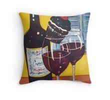 Cupcake wine and a Cupcake Throw Pillow
