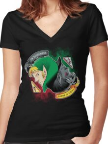 Two sides Women's Fitted V-Neck T-Shirt