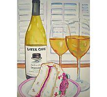 Layer cake wine and cake Photographic Print