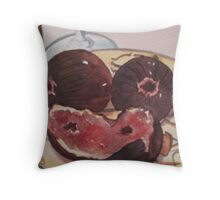Wine and Figs Throw Pillow