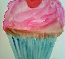 Cupcake with a Cherry on Top by Loretta Barra