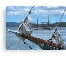 We are sailing, We are sailing, home again across the sea.......! Canvas Print