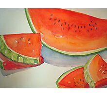 Watermelon Summer Treat Photographic Print