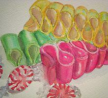 Ribbon Candy Pink by Loretta Barra
